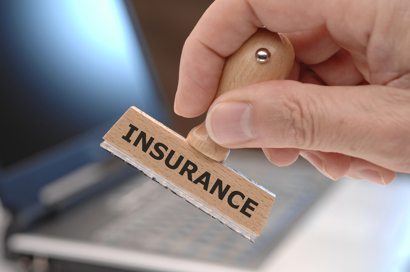 rubber stamp with inscription INSURANCE, RK INSURE , marine, vehicle, import export insurance